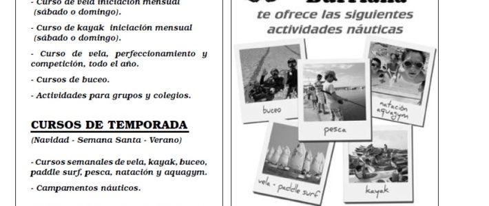 ESCOLA NÀUTICA C N BURRIANA – ¡Ya disponibles cursos verano 2017!