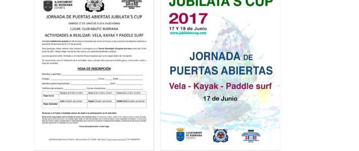 JORNADA PUERTAS ABIERTAS PARA ESCOLARES DE BURRIANA – JUBILATA'S CUP 2017 – CERRADA INSCRIPCIÓN