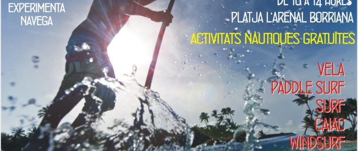 II FESTA ACTIVITATS NÀUTIQUES A LA PLATJA – COLABORA EL CLUB NÀUTIC BURRIANA