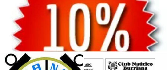 Colaboración C N Burriana  y al Asociación de Vecinos del Puerto de Burriana // 10% descuento en los cursos de la Escuela Náutica