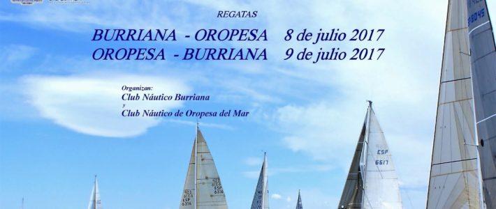 REGATA BURRIANA – OROPESA (8 de Julio) // OROPESA  – BURRIANA (9 de Julio) – Clasificaciones.