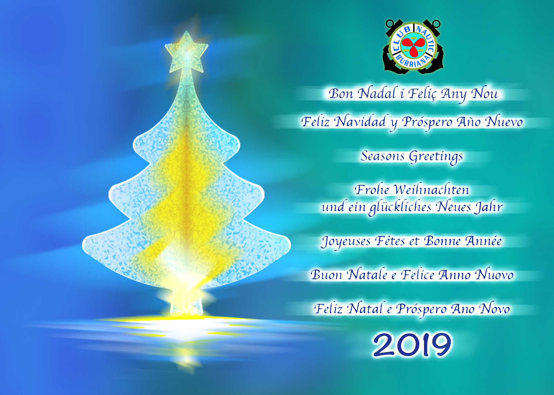 Imagenes Felicitacion Navidad 2019.El Club Nautico Burriana Desea A Todos Sus Socios Y Amigos