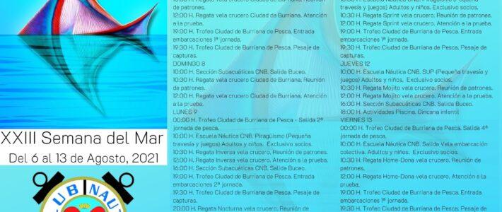 XXIII Semana del Mar – Del 6 al 14 de Agosto – Programa